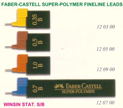 FABER-CASTELL SUPER POLYMER PENCIL LEAD 0.3mm B 9063S-B