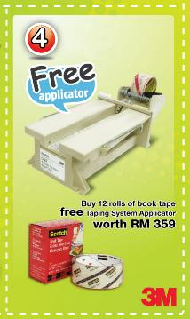 Free Taping System Applicator worth RM359