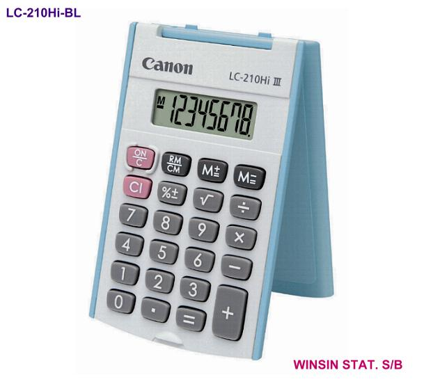 CANON POCKET CALCULATOR 8 digit with FOLDING COVER BLUE (240