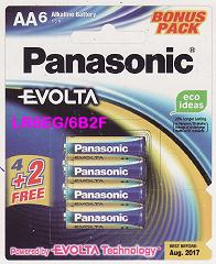 PANASONIC BATTERY AA 4+2 EVOLTA ALKALINE <6>
