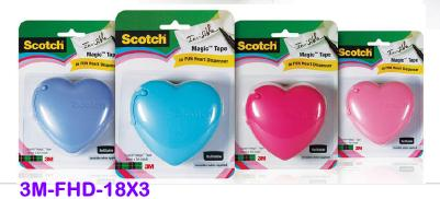 3M MAGIC TAPE 18mm X 3m FUN HEART TAPE DISPENSER <20>