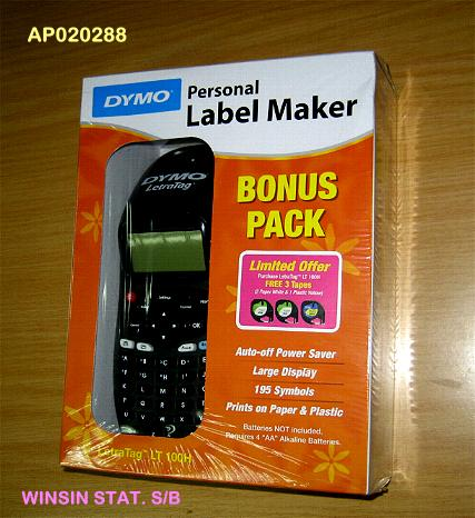 DYMO LETRATAG LABEL MAKER PERSONAL BLACK