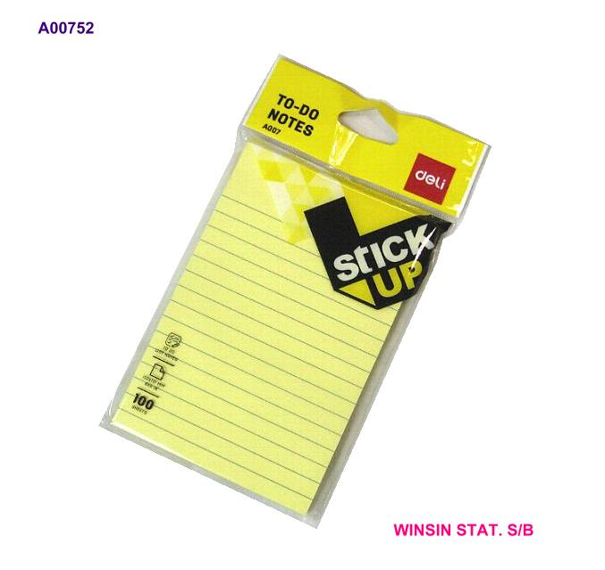 DELI STICKY NOTES 'TO DO' 6 X 4 INCH 152 x 101mm 100 sheets