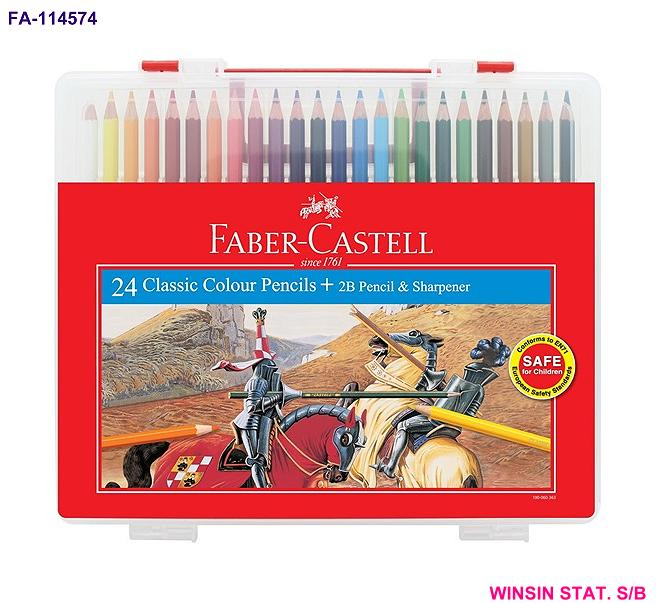 FABER-CASTELL CLASSIC COLOUR PENCIL 24 in WONDER BOX