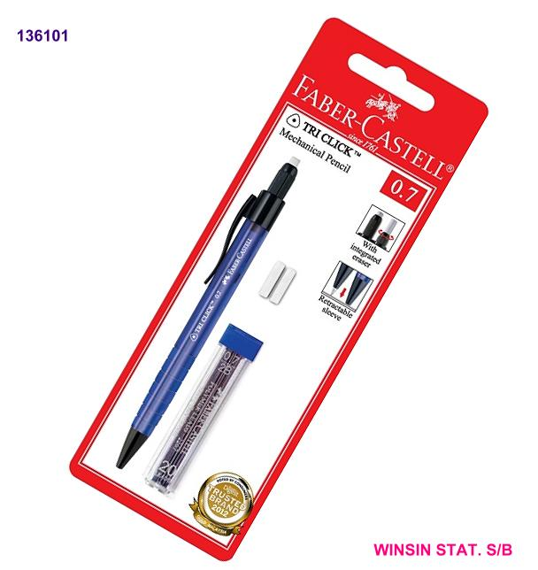FABER-CASTELL TRI-CLICK MECHANICAL PENCIL 0.7 with LEAD (136003)