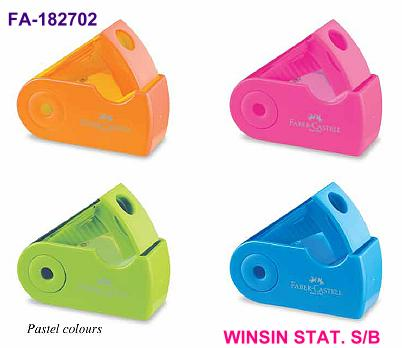 FABER-CASTELL SHARPENER MINI SLEEVE with CONTAINER