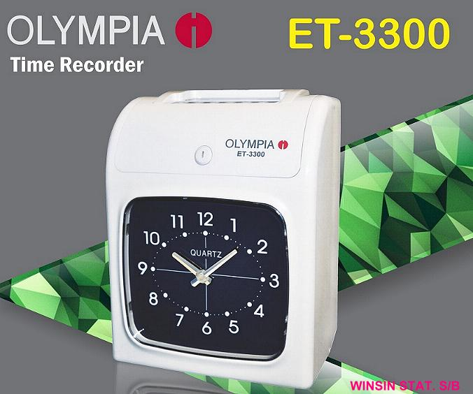 OLYMPIA TIME RECORDER ANALOGUE DISPLAY