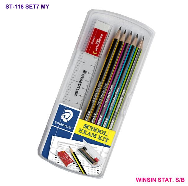 STAEDTLER SCHOOL EXAM KIT PENCIL 118-2B X 5