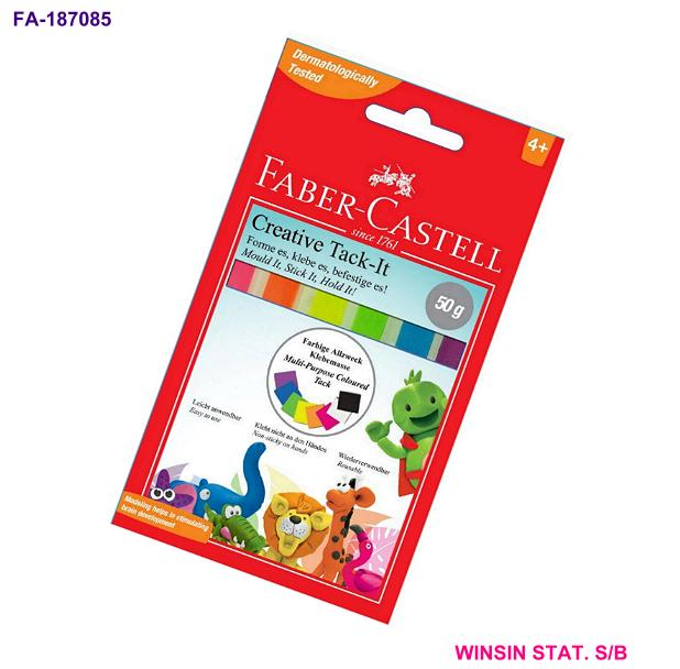FABER-CASTELL CREATIVE TACK-IT 50g ASSORT.COLOUR