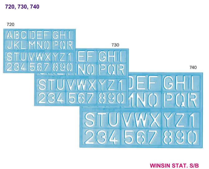 CITY LETTERING STENCIL 720 (20mm) Big Cap Only