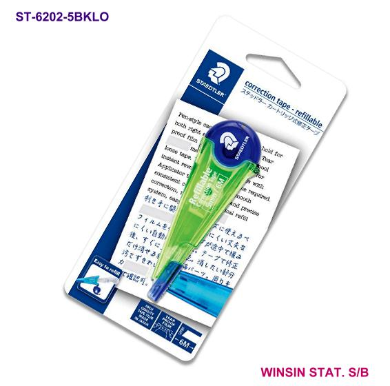 STAEDTLER CORRECTION TAPE 5mm X 6m Refillable GREEN