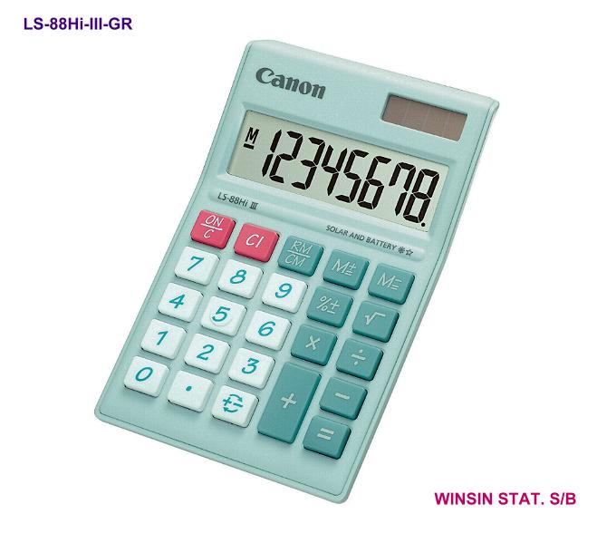 CANON DESKTOP CALCULATOR 8 digit III GREEN