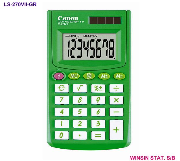 CANON POCKET CALCULATOR 8 digit GREEN