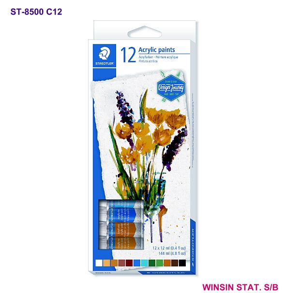 STAEDTLER ACRYLIC PAINTS 12ml 12 COLOURS