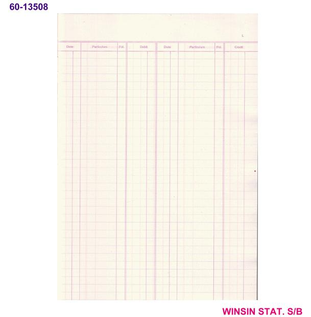 CAMPAP BOOK KEEPING 52pg LEDGER (CA-3508) <20-320>
