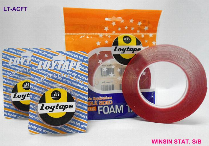 LOYTAPE ACRYLIC DOUBLE SIDED FOAM TAPE 18mm X 1m CLEAR <96>