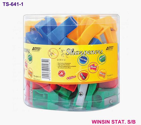 ASTAR SHARPENER 1 HOLE ASST. COLOUR 72pc/Drum