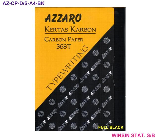 AZZARO CARBON PAPER DOUBLE SIDED 368T A4 FULL BLACK