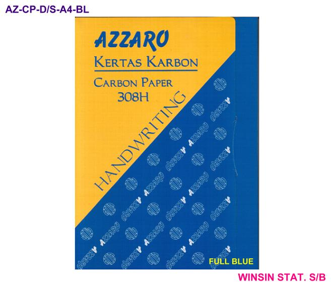 AZZARO CARBON PAPER DOUBLE SIDED 308H A4 HANDWRITING FULL BLUE