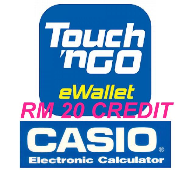 Casio Calculator GWP - RM20 Touch n Go Credit