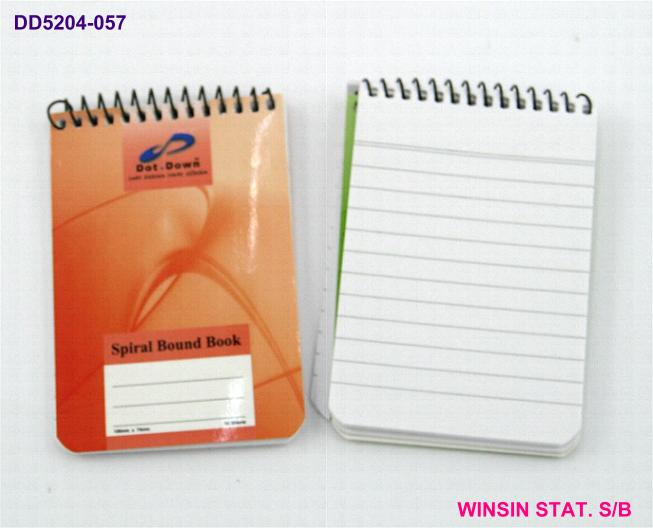 DOT.DOWN SPIRAL NOTE BOOK A7 (105 X 74)mm 50 sheets <10-600>