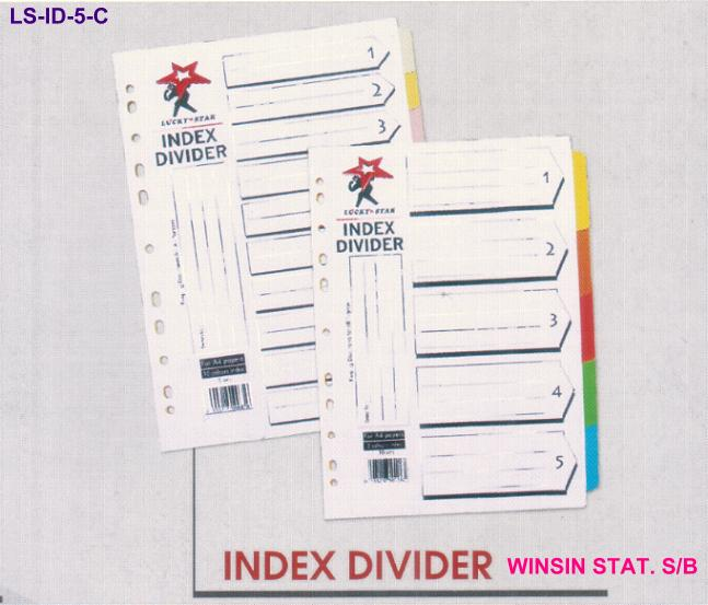 LUCKY STAR A4 5 COLOURS INDEX DIVIDER 10 SETS/PKT <26>