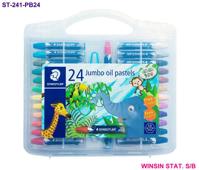STAEDTLER JUMBO OIL PASTEL 24 COLOURS with CASE <8-48>