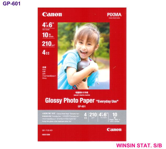 CANON GLOSSY PHOTO PAPER GP-601 10 sheets 210gm