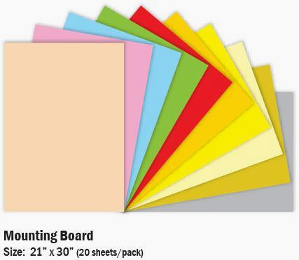 MOUNTING BOARD 21X30 INCH BLACK OR WHITE