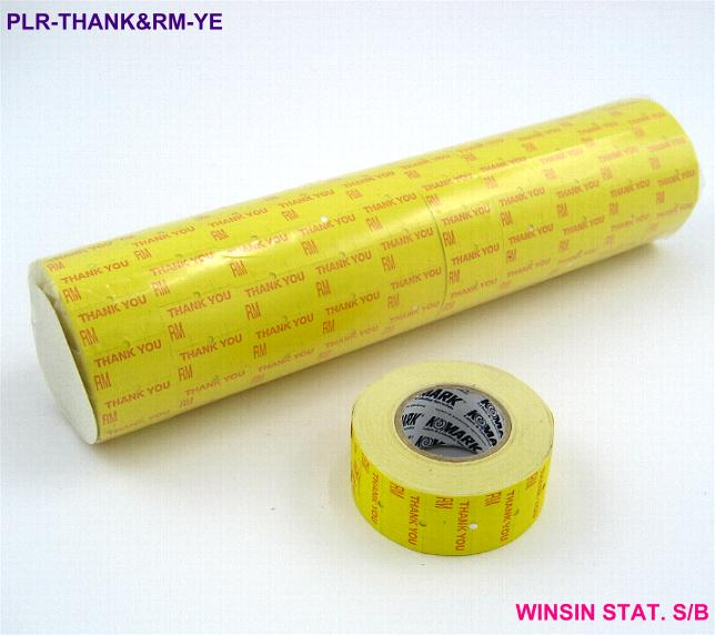 PRICE LABEL ROLL (12 X 22mm) 800s THANK YOU & RM YELLOW <10>