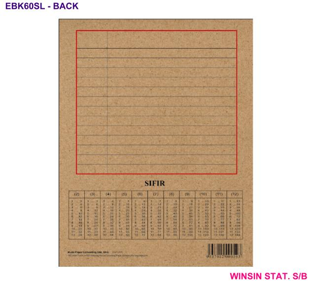 SPECTRA SOFT COVER EXERCISE BOOK SINGLE LINE 60 <10-600>