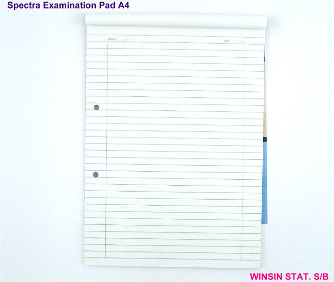 SPECTRA EXAMINATION PAD A4 50s 50g (EXAM PAD) TOP OPEN <10-120>