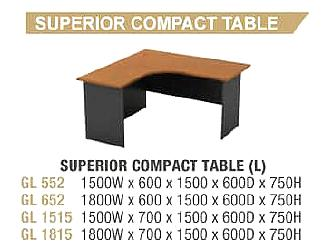 G SERIES SUPERIOR COMPACT TABLE (WORK STATION LEFT/RIGHT)
