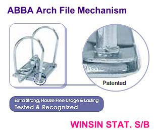 ABBA ARCH FILE GOLD 406 1.5 INCH WITH COLOUR INDEX