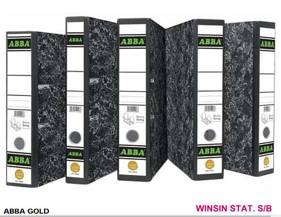 ABBA ARCH FILE GOLD 404 3 INCH WITH COLOUR INDEX